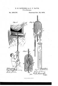 Early Desc. - Pat. Rotschka&Davis Descender 1878 -1