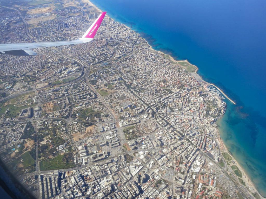 Тел Авив от самолет