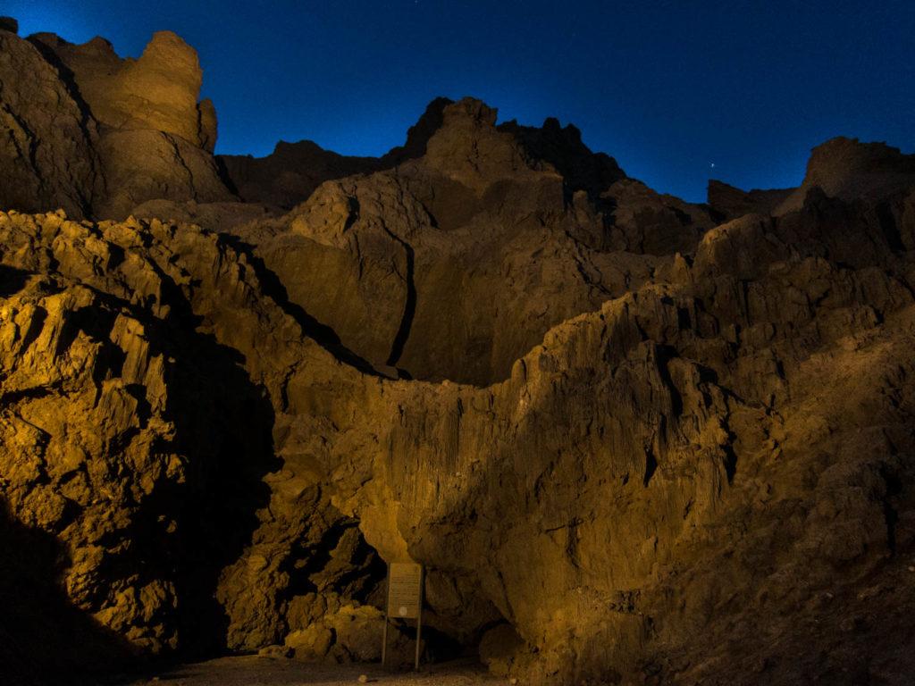 планината Содом от равнището на Мъртво море