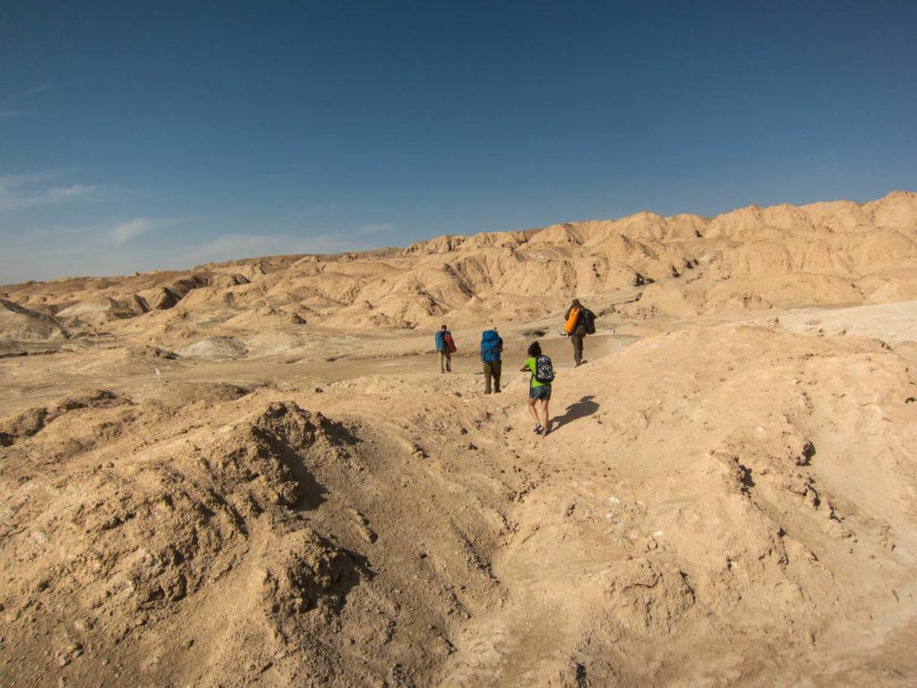 пустинен пейзаж от солните скали на планината Содом