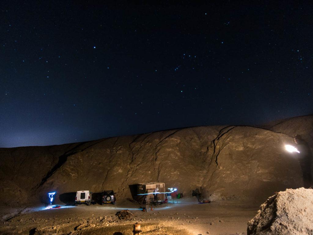планината Содом нощем