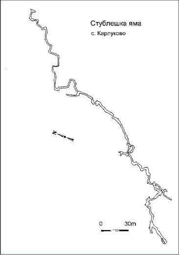 карта на Стублешка Яма